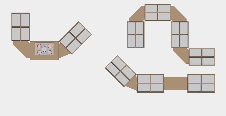 Mögliche Varianten Buffet-Systeme